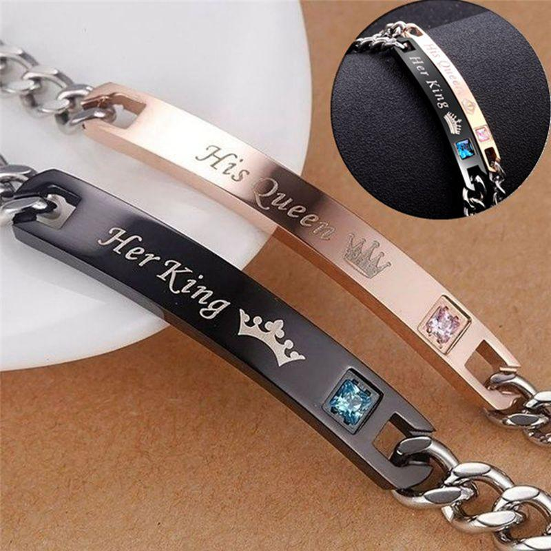 Couples His Queen / Her King Matching Leather Bracelet