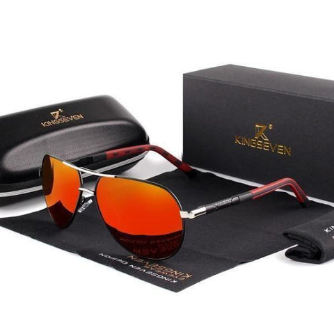 Men's Aviator Sunglasses Red Polarised