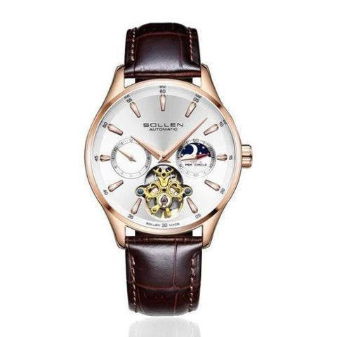 SOLSTICE Automatic Business Watch White Rose gold - Crafted In Time