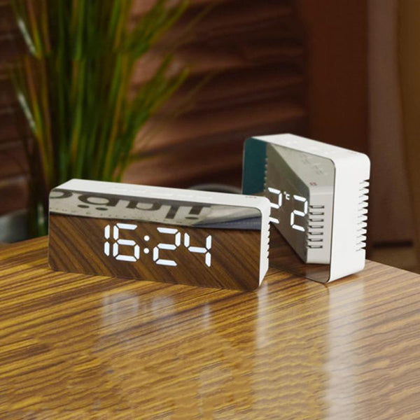 LED Mirror Digital Alarm Clock - Materiol