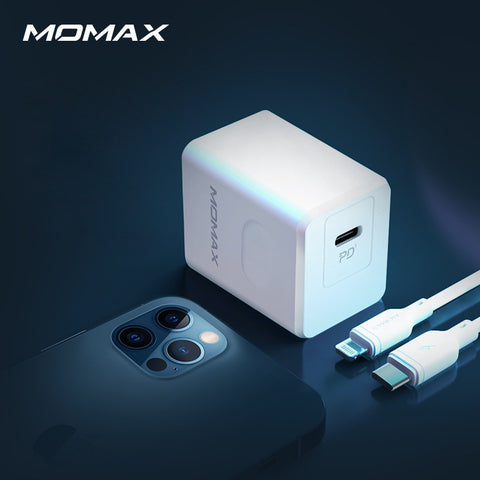 Momax 20W USB C Charger For iPhone 12/ 11 (US Plug)
