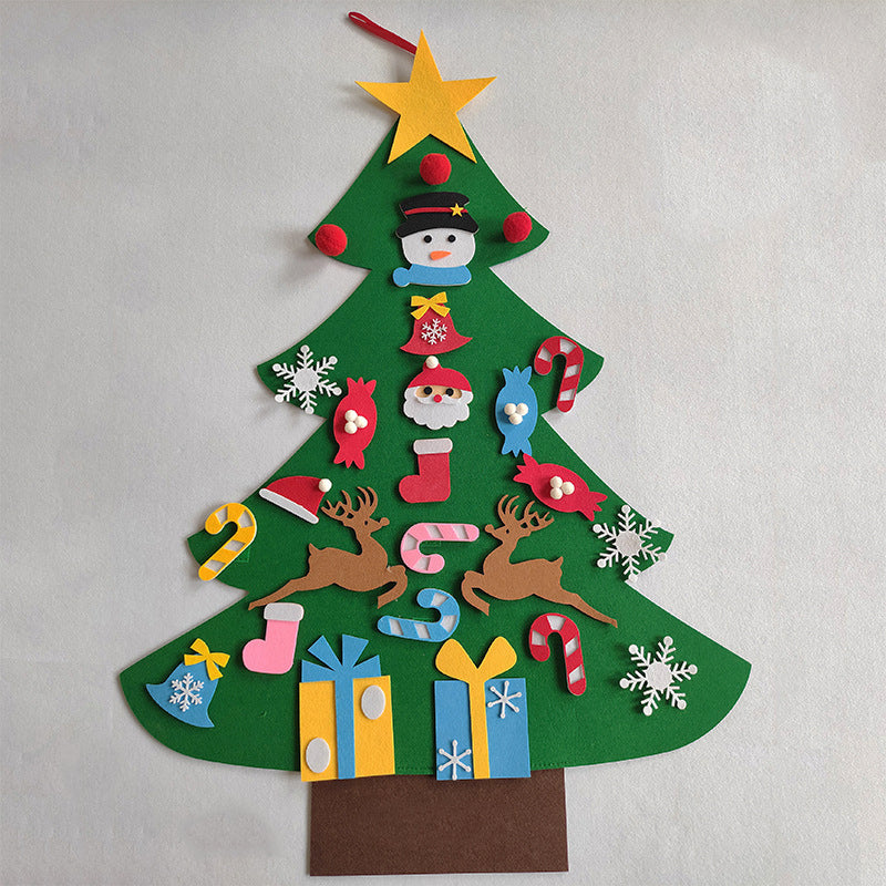 Felt Christmas Tree DIY Decoration for Kids - Materiol
