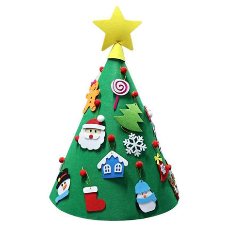 Felt Christmas Tree DIY Decoration for Kids