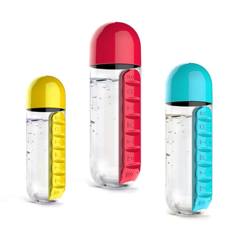 Daily Pill Organizer Bottle (3 in 1)