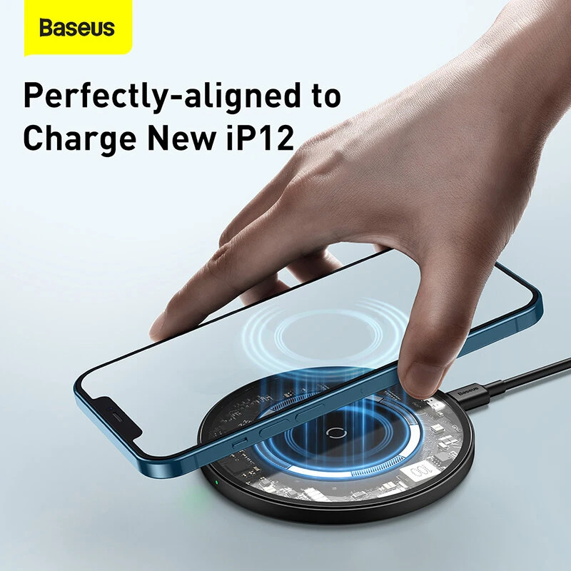 Baseus Magnetic PD18W Wireless Charger Phone 12 MagSafe Compatible - Materiol