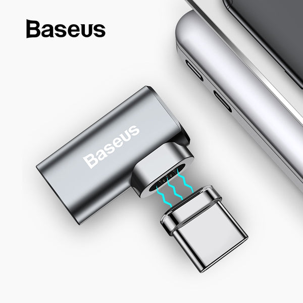 Baseus 86W Magnetic USB C Adapter for MacBook/Pro 6 Pins Elbow USB Type C Charge