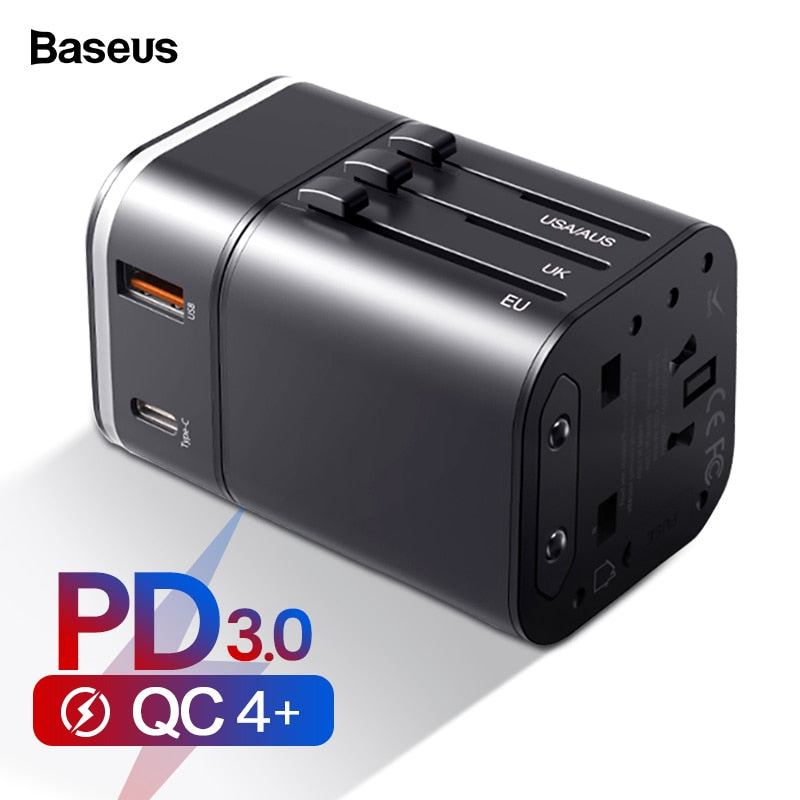 Baseus Quick Charge Universal Travel Adapter - Materiol