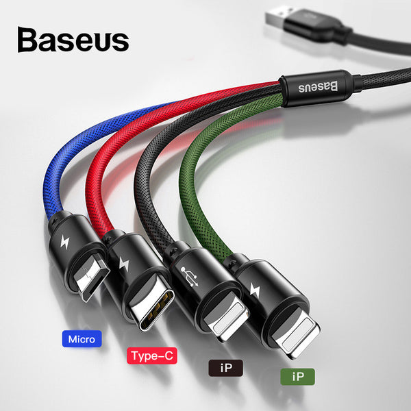 Baseus 4 in 1 USB Cable (4-Color) - Materiol