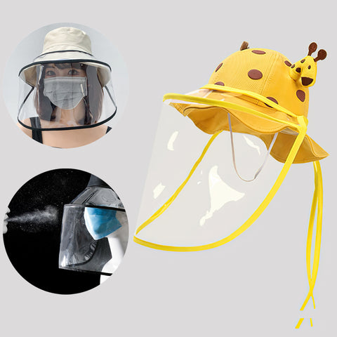 Protective Face Shield for Hats and Caps