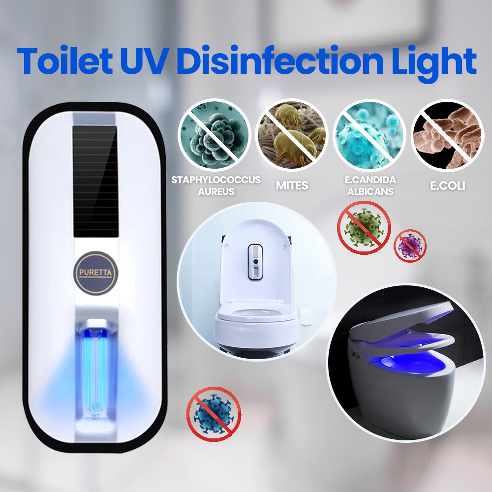 Intelligent Toilet UV Sterilizer Disinfection Rechargeable and Solar Power - Materiol
