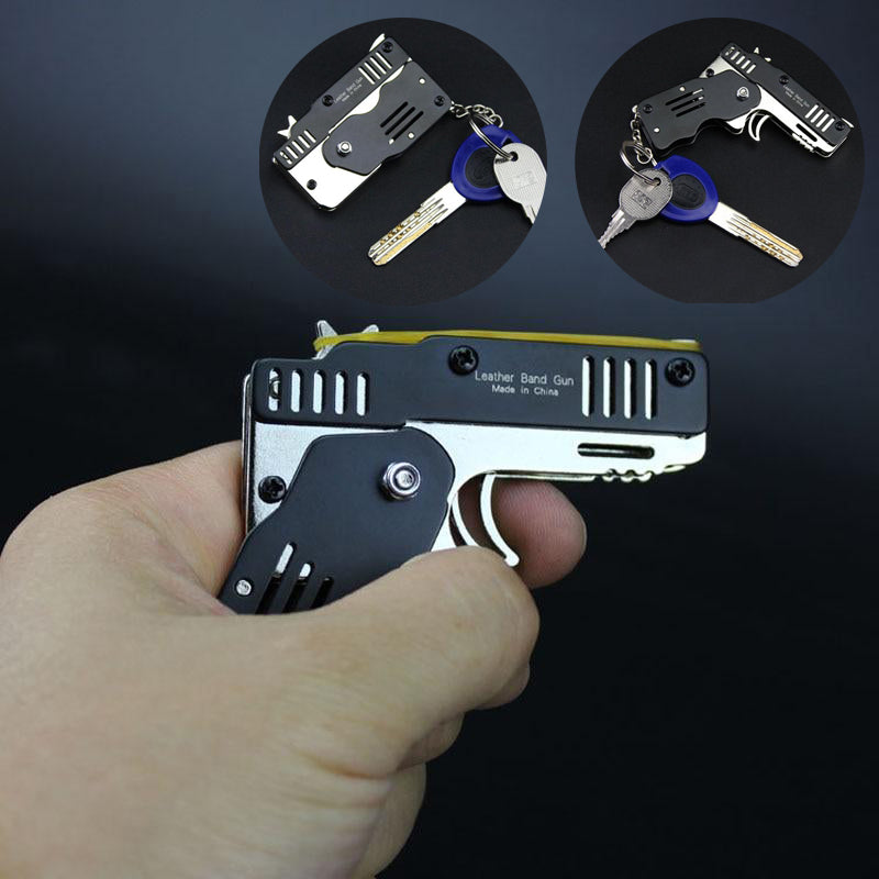 Foldable Card-size Rubber Band Toy Gun - Materiol