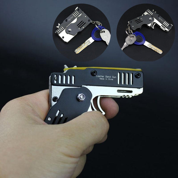 Foldable Card-size Rubber Band Toy Gun