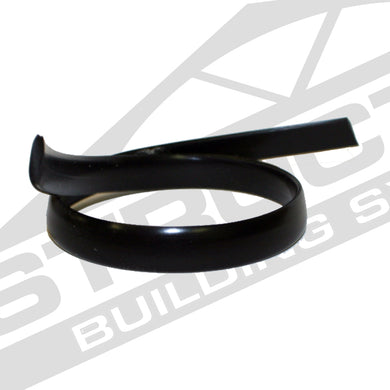 Black Flat Spline, Flexible PVC