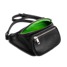 "Load image into Gallery viewer, ""Green Gobler""- Belted Fanny Bag"