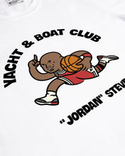 "Load image into Gallery viewer, YNBCLUB ""JORDAN"" STEVE TEE - WHITE (LIMITED) - Áo 256 GSM -  100% cotton"