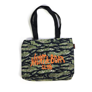 """Yacht & Boat Club"" TIGER STRIPES f. SCUBA STEVE Tote bag"