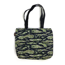 "Load image into Gallery viewer, ""Yacht & Boat Club"" TIGER STRIPES f. SCUBA STEVE Tote bag"