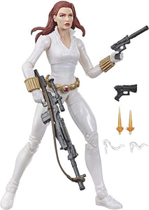 Black Widow White Viúva Negra Uniforme Branco Marvel Legends