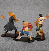 Carregar imagem no visualizador da galeria, 3pcs/set Luffy + Sabo + Ace Anime One Piece