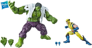 2 Pack Wolverine vs Hulk Os Vingadores 80th Anniversary Marvel Legends.
