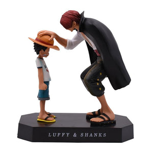One Piece Younko Shanks Straw Hat Luffy Criança PVC Action Figure Collectible Model Toy.