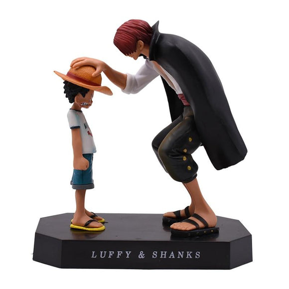 One Piece Younko Shanks Straw Hat Luffy Criança PVC Action Figure Collectible Model Toy