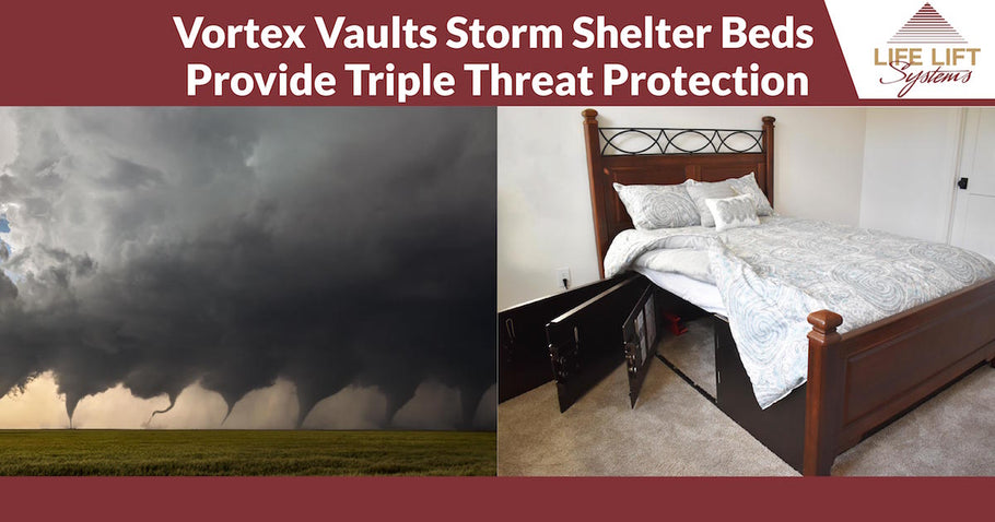 Vortex Vaults Storm Shelter Beds Provide Triple Threat Protection