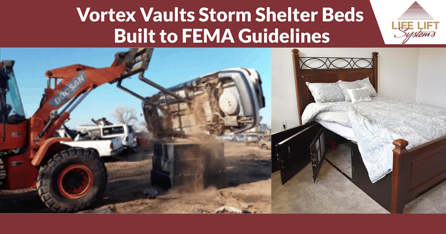 Vortex Vaults Storm Shelter Beds Built to FEMA Guidelines