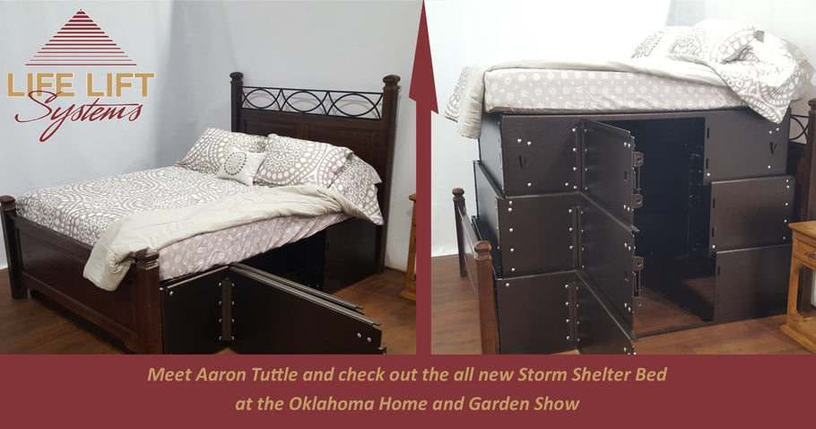 Official Launch of Storm Shelter Bed and a Visit by Aaron Tuttle at the Home and Garden Show in OKC