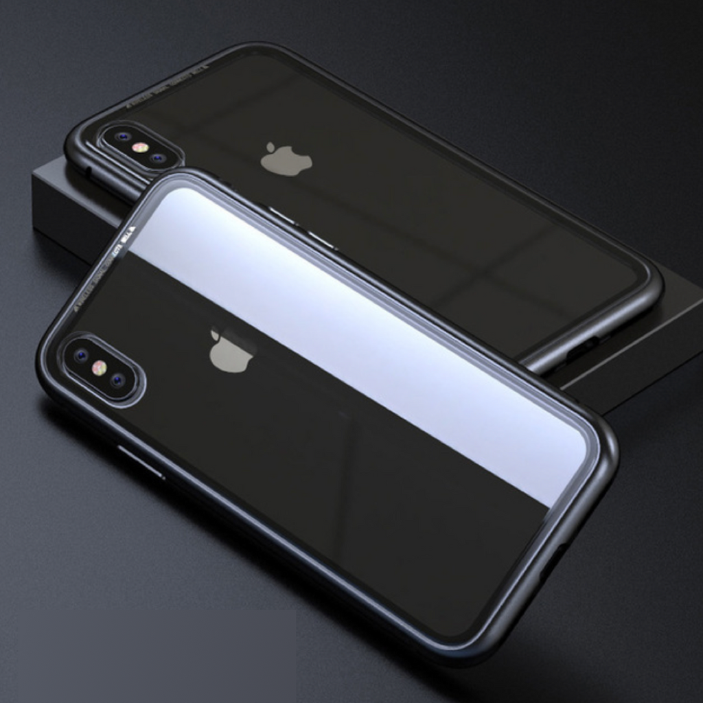 Magnetic Tempered Glass iPhone Case