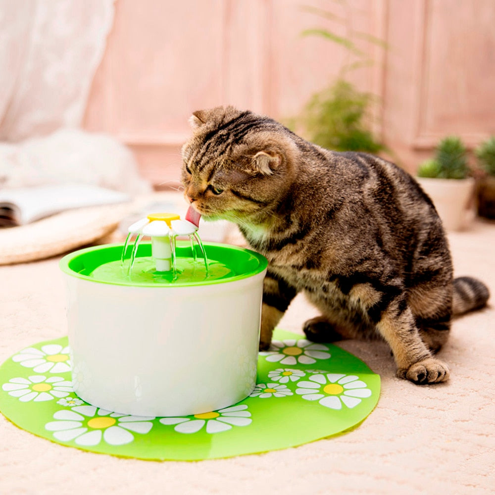 Automatic Drinking Fountain - Flower Style Cat Bowl (1.6L)