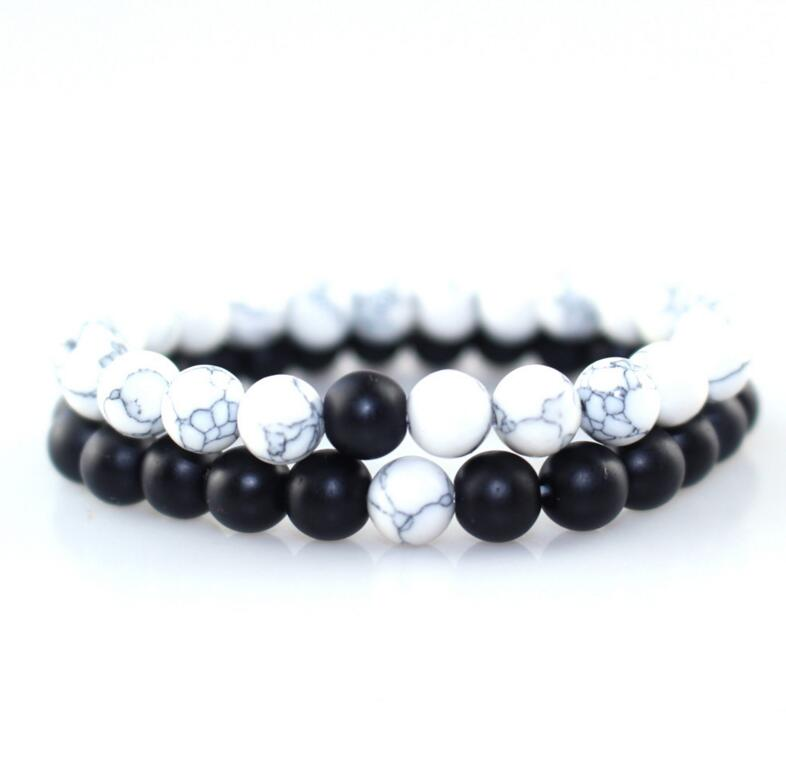 Black and White Linking Bracelets
