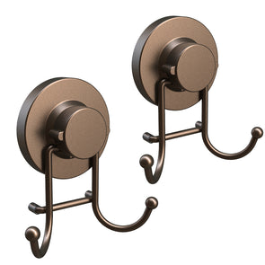 Double Hooks with Suction Cup (Bronze)