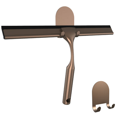 Shower Squeegee with 3M Adhesive Stickers (Bronze)