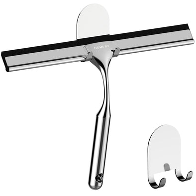 Shower Squeegee with 3M Adhesive Holder (Chrome)