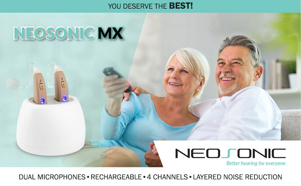 neosonic mx dual microphone rechargeable hearing aid