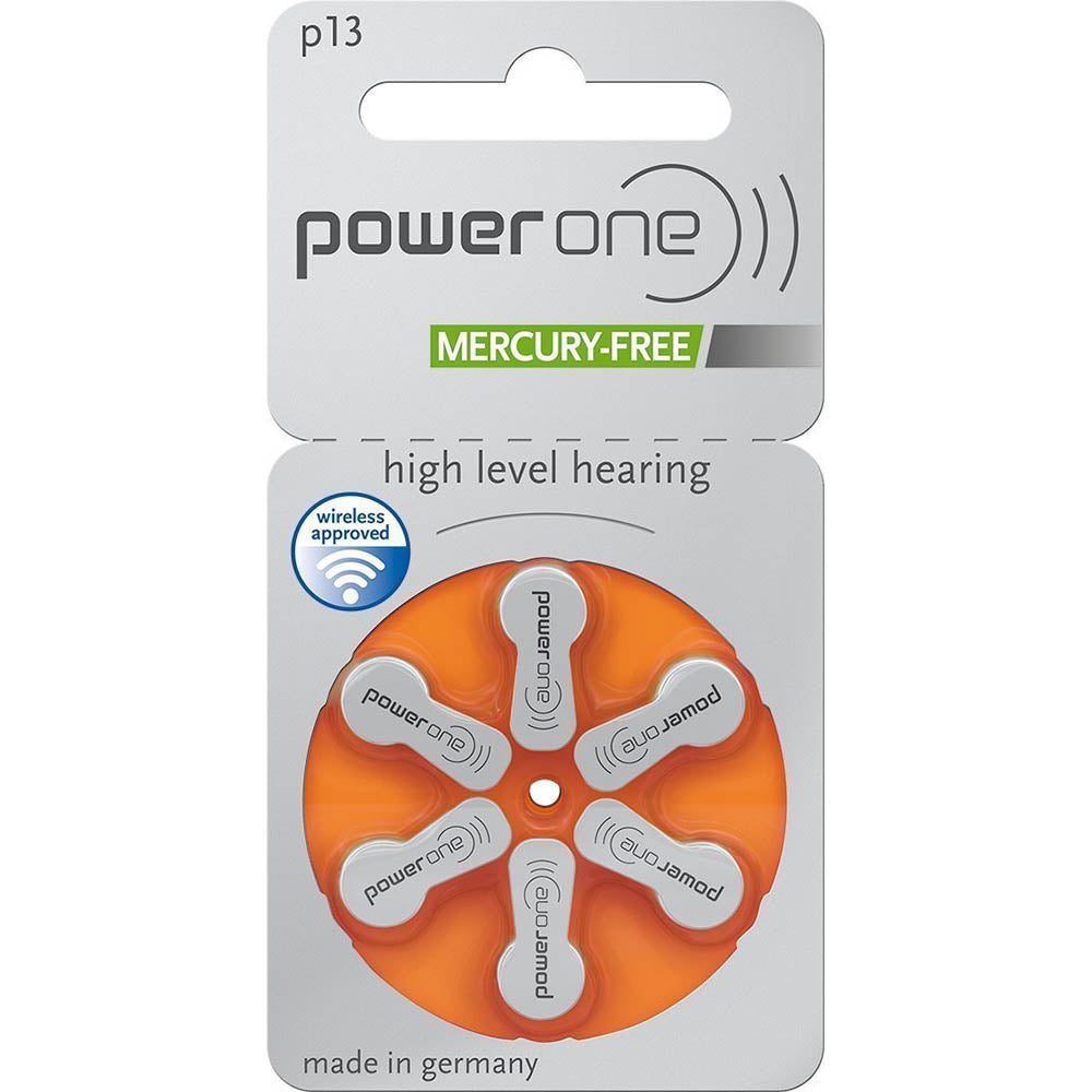 Power One Hearing Aid Batteries, Size 13