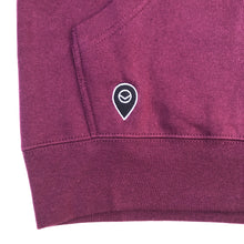 Load image into Gallery viewer, University of Visit Hooded Sweatshirt - Merlot