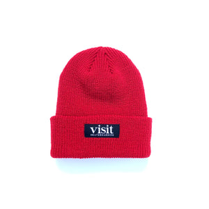 Visit Fold Beanie - Red