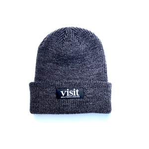 Visit Fold Beanie - Dark Heather Gray