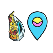 Load image into Gallery viewer, Visit Logo Enamel Pin