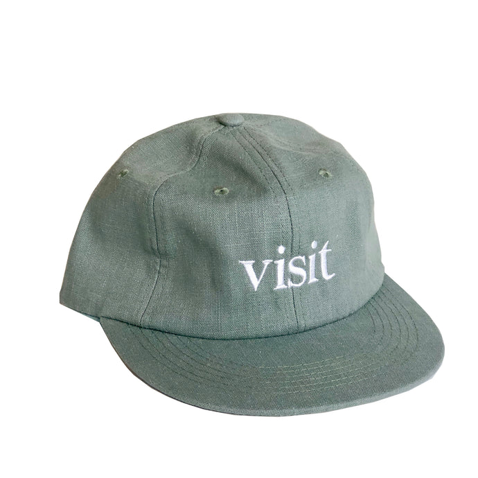 Unstructured 6 Panel Strapback Hat - Sage