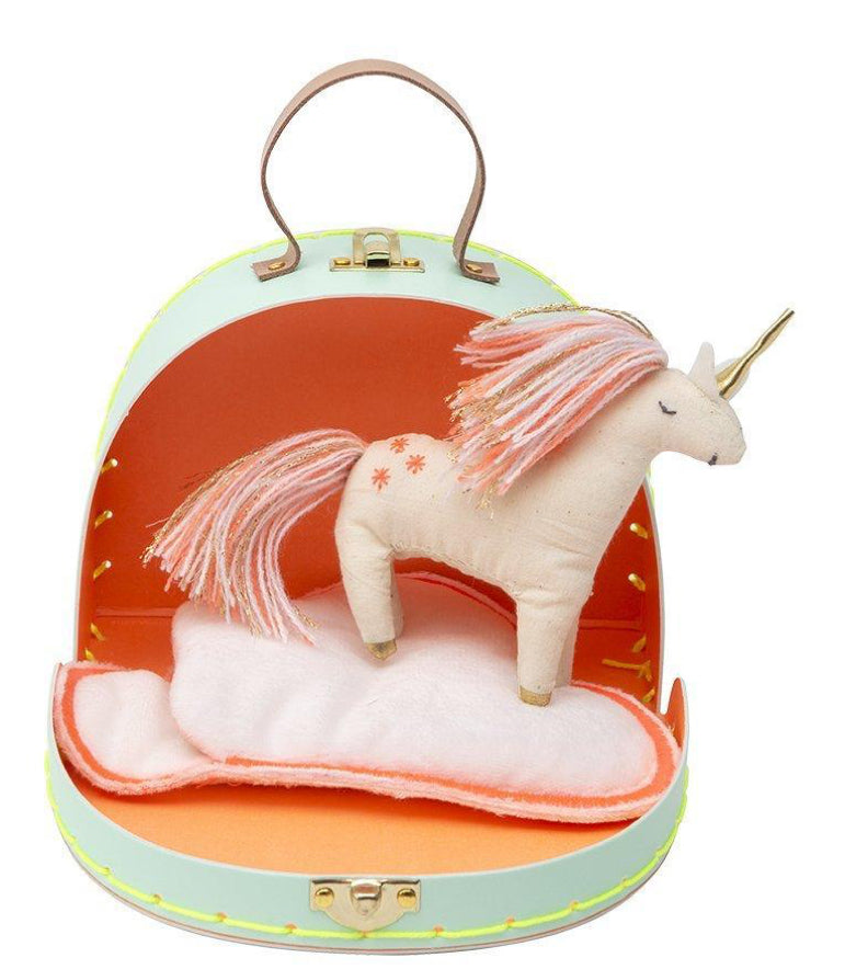 Meri Meri Suitcase With Mini Unicorn Doll