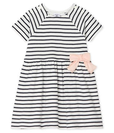 Petit Bateau Baby Girls Striped Short Sleeve Dress