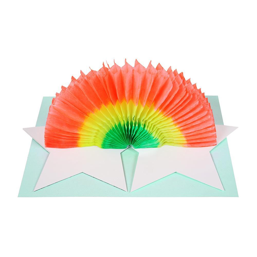 Meri Meri Star & Rainbow Birthday Card