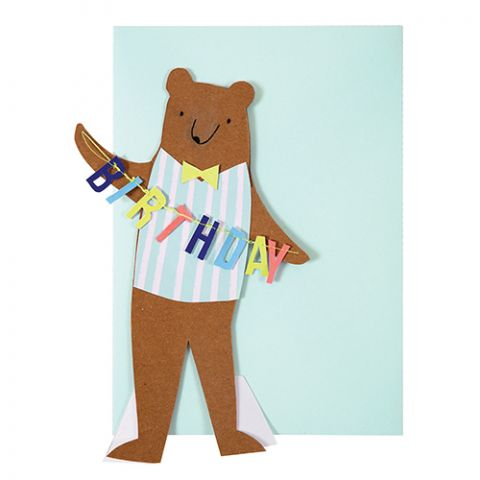 Meri Meri Stand Up Bear Birthday Card