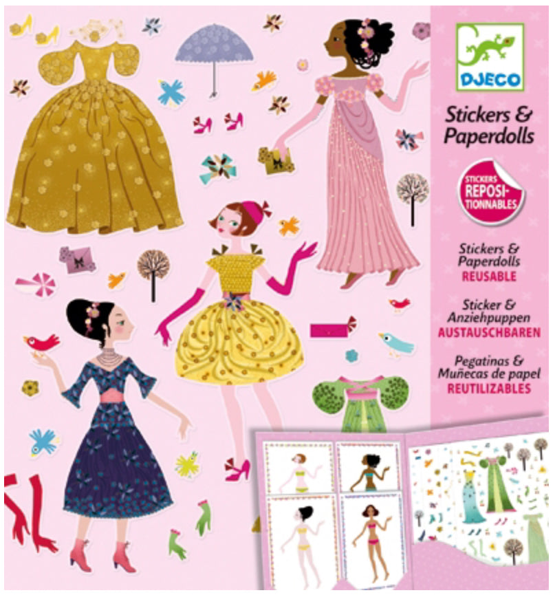Djeco Stickers & Paper Dolls Dresses Through The Seasons