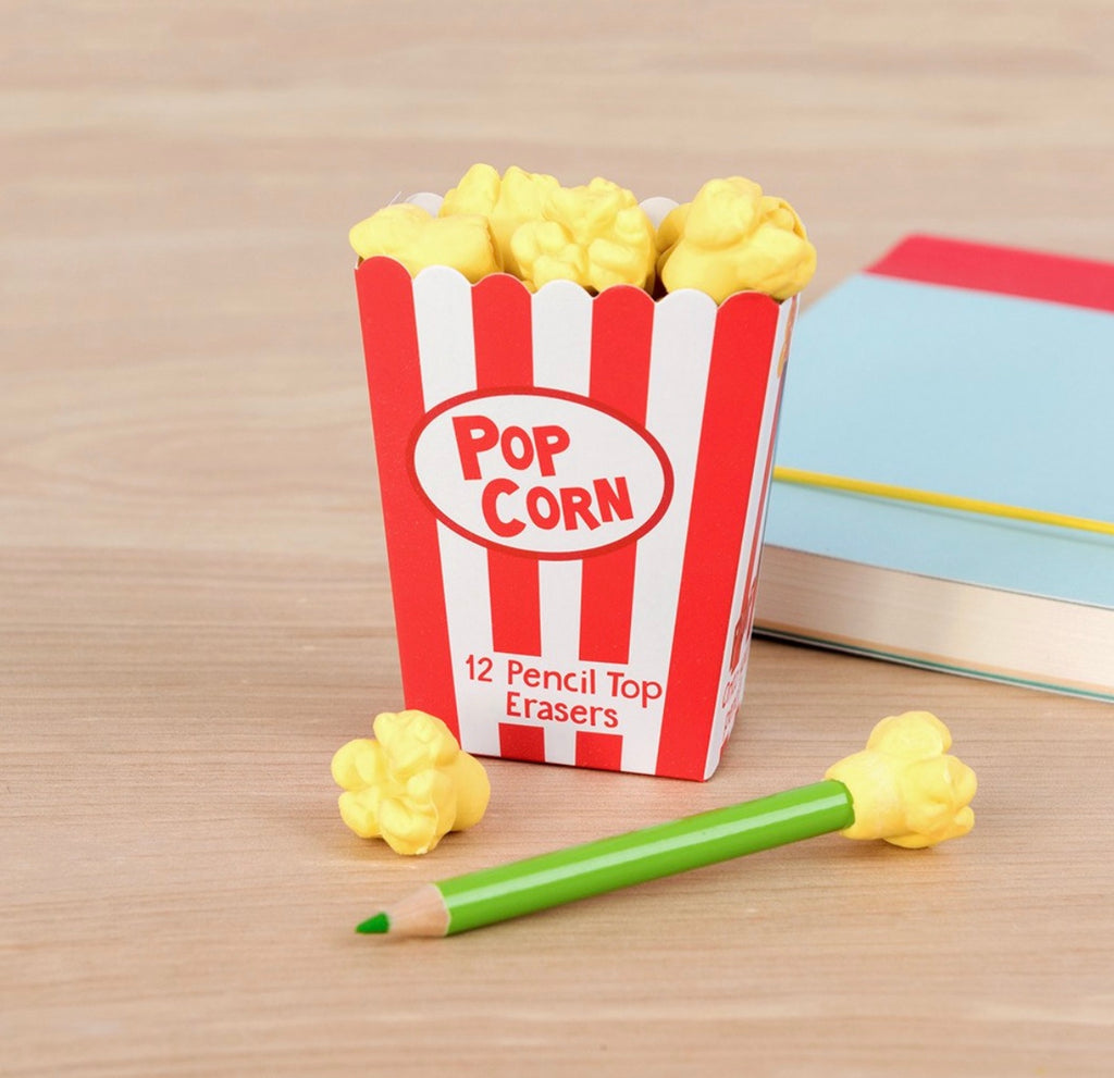 Rex London PopCorn Pencil Top Erasers