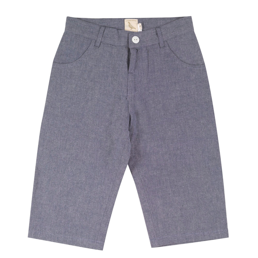 Pigeon Long Chambray Shorts