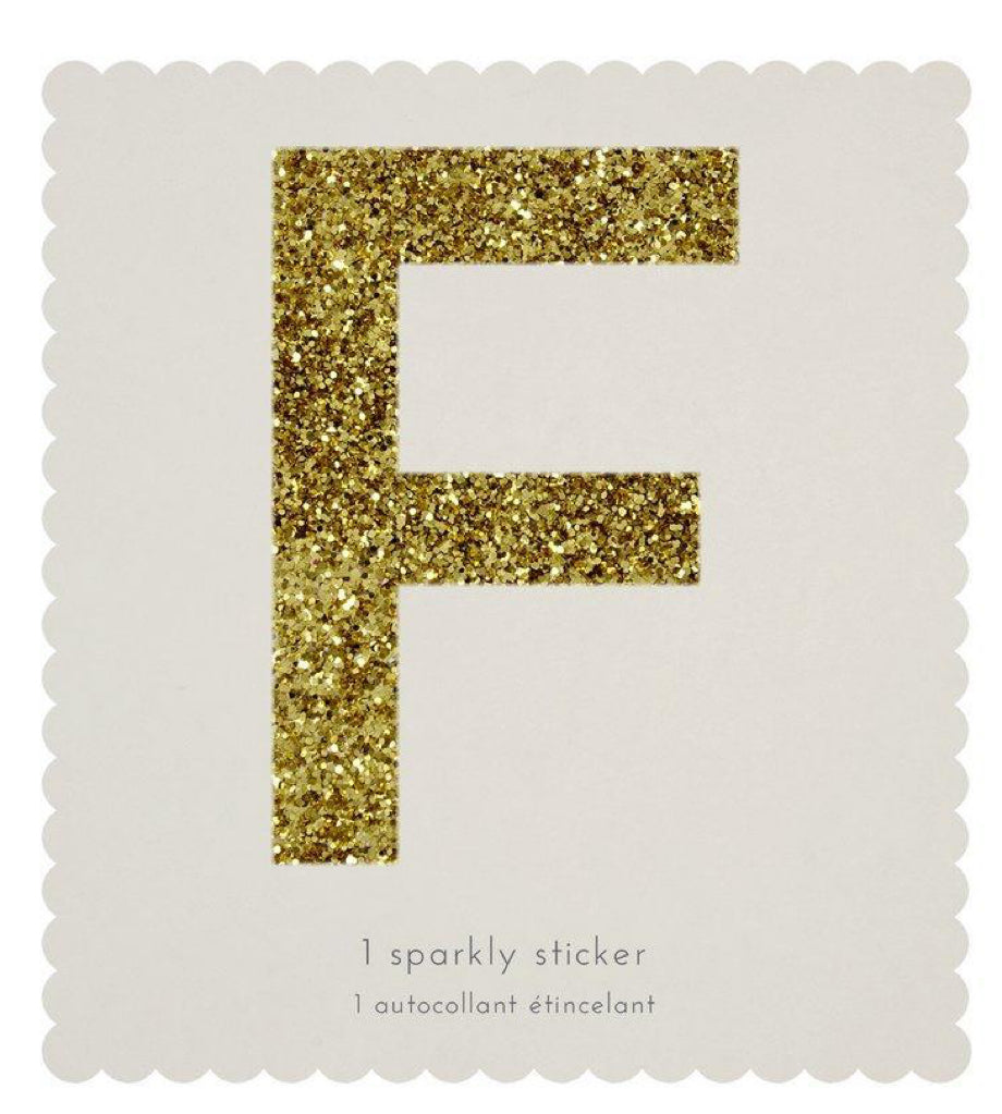 Meri Meri F Sparkly Sticker